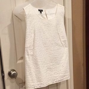 White lace sleeveless top. Talbots sz 14W